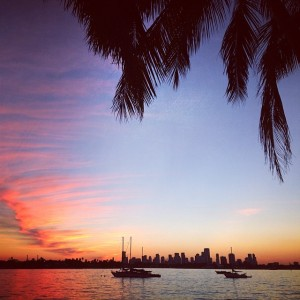 Unbelievable sunset....only in Miami Beach!!